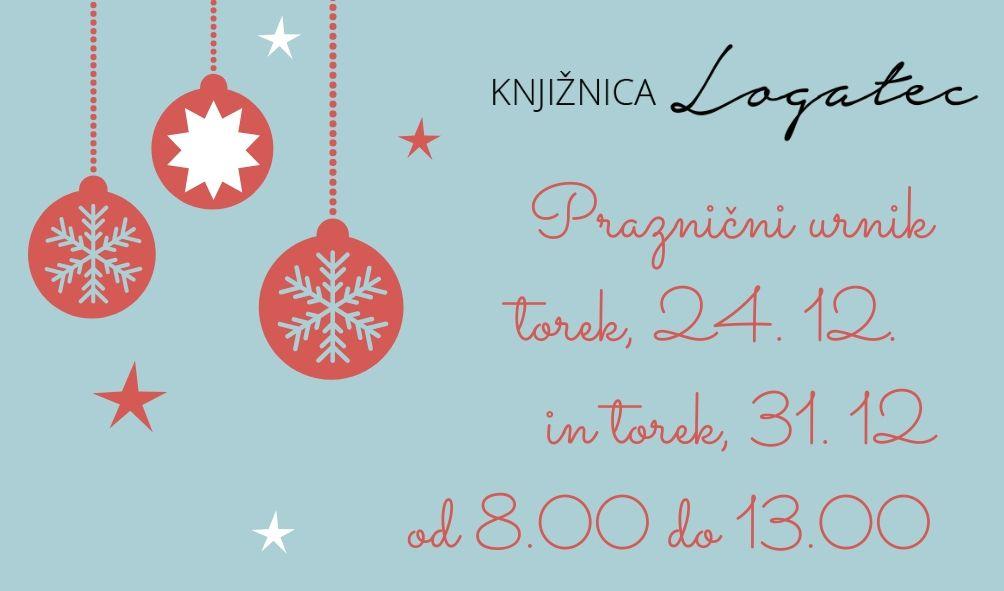 Praznični delovni čas 24. in 31. decembra