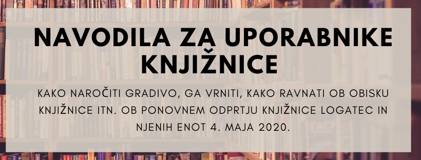 Obvestilo o odprtju knjižnice