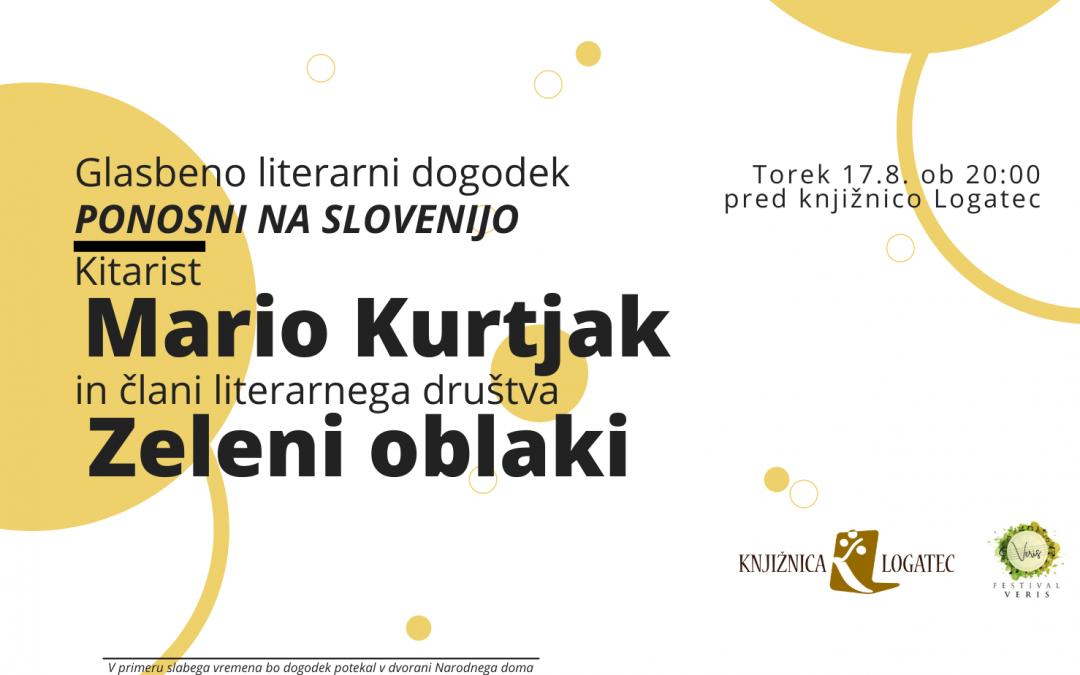 Literarno glasbeni večer: Mario Kurtjak in Zeleni oblaki